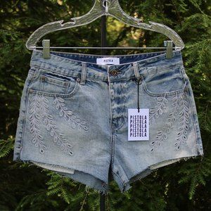Pistola Hi-rise Embroidered Ivy Shorts NWT